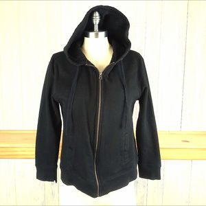 Exertek ~ Sherpa Lined Black Full-Zip Hoodie